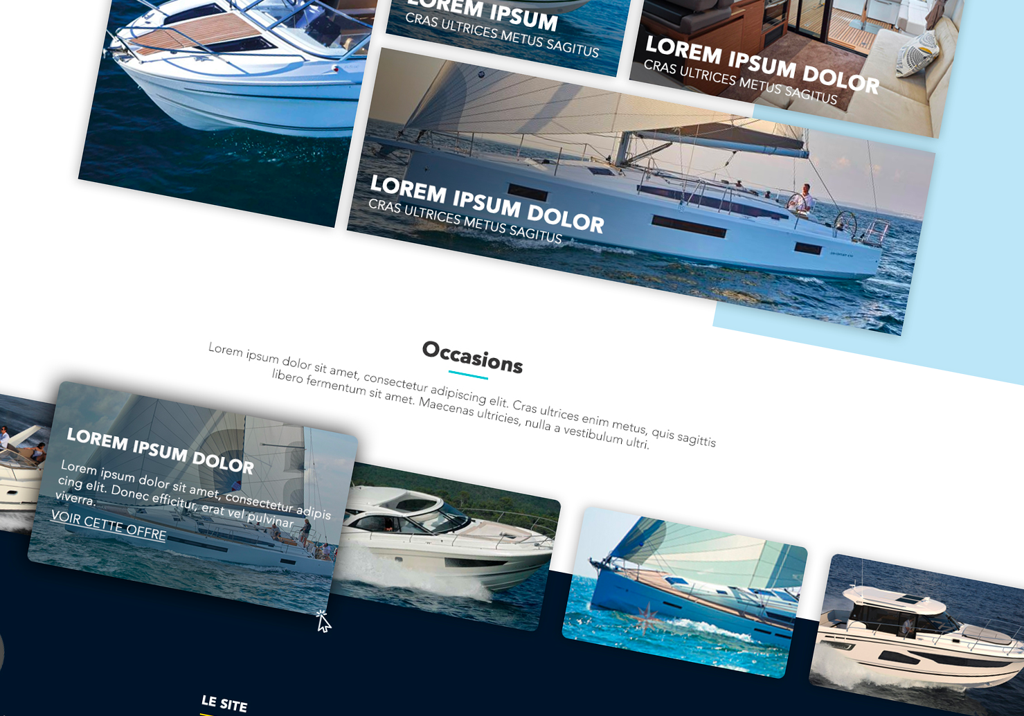 Yacht web design